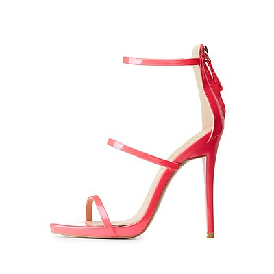 Qupid Ankle Strap Dress Sandals