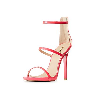 Qupid Ankle Strap Dress Sandals