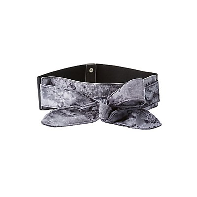 Plus Size Velvet Bow Waist Belt