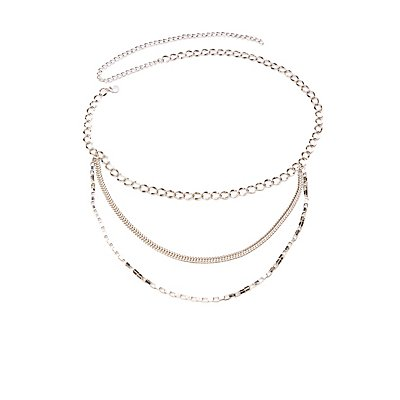 Plus Size Chainlink Layered Belt