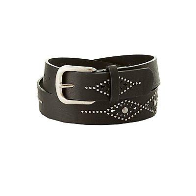 Plus Size Southwestern Studded Belt