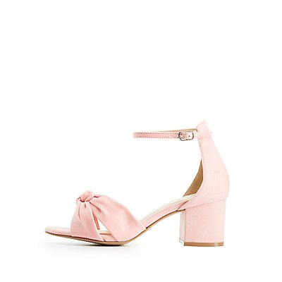 Wide Width Knotted Two-Piece Sandals