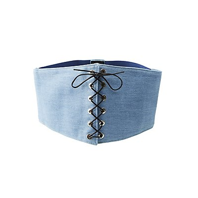 Denim Corset Waist Belt