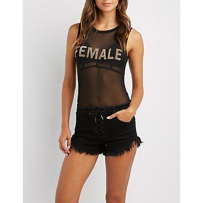 Female Mesh Bodysuit