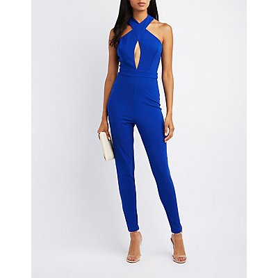 Crossover Cut-Out Jumpsuit