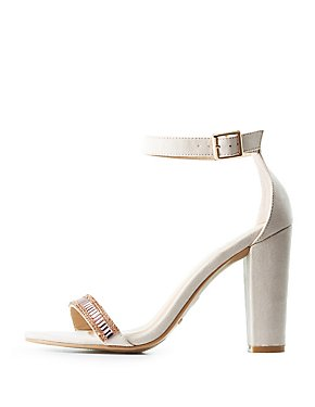 Bamboo Embellished Two-Piece Sandals