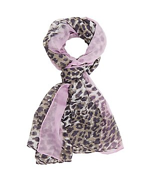 Leopard Printed Wrap Scarf