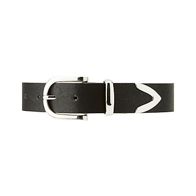 Plus Size Metal-Tipped Belt