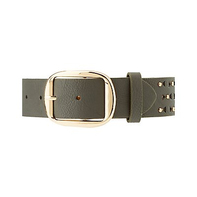 Plus Size Studded Laser Cut Belt