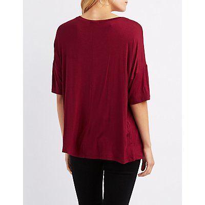 Distressed Dolman Boyfriend Tee