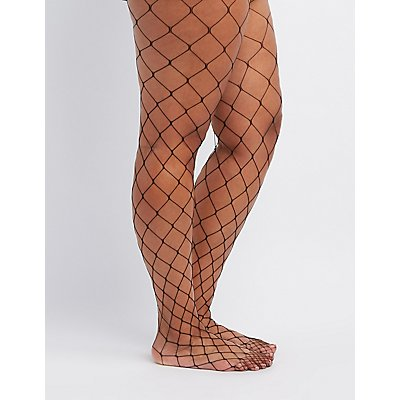 Plus Size Fishnet Tights