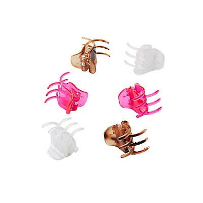 Claw Hair Clips - 6 Pack