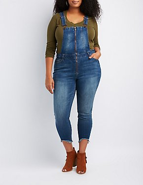 Plus Size Refuge Denim Zip-Up Overals