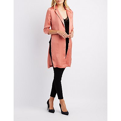 Satin Open Front Duster