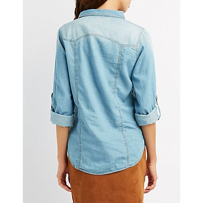 Chambray Button-Up Shirt