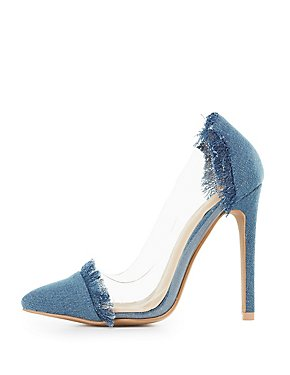 Denim Clear D'Orsay Pumps