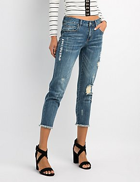 Refuge Straight Leg Destroyed Jeans