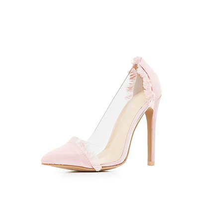 Satin Clear D'Orsay Pumps