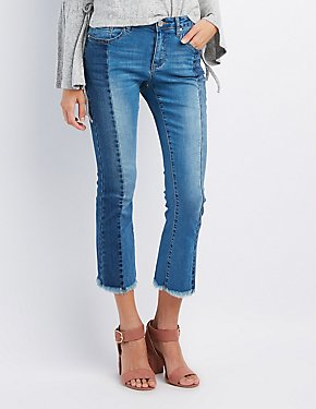 Refuge Colorblock Kick Flare Jeans