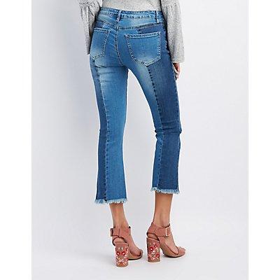 Refuge Colorblock Kick Flare Jeans