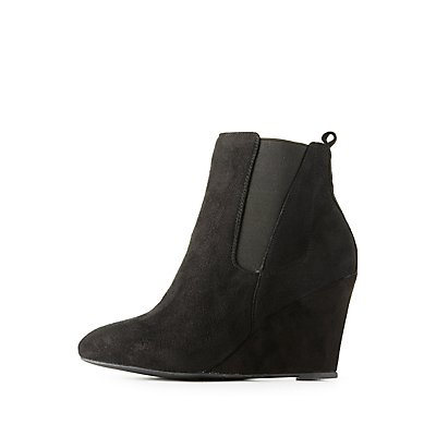 Side Gore Wedge Ankle Booties