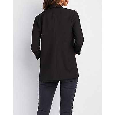 Shawl Boyfriend Pocket Blazer