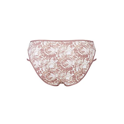 Plus Size Printed Strappy Hipster Panties