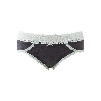 Plus Size Lace-Trim Hipster Panties