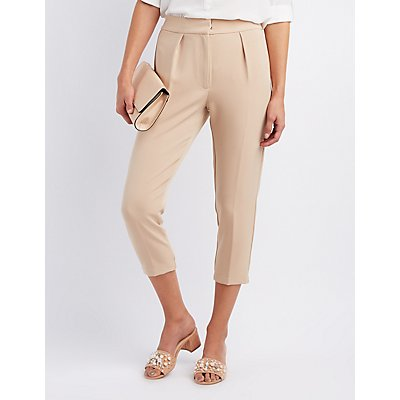 High-Waisted Skinny Trousers