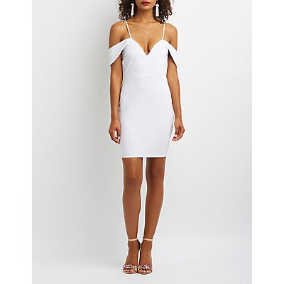 Sweetheart Cold Shoulder Bodycon Dress