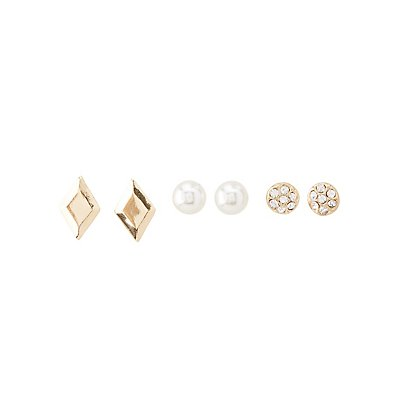 Chainlink Chokers & Stud Earrings Set