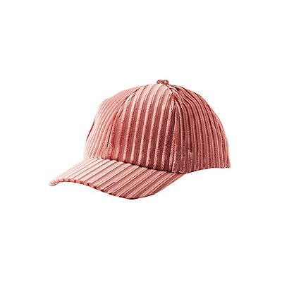 Ribbed Velvet Baseball Hat