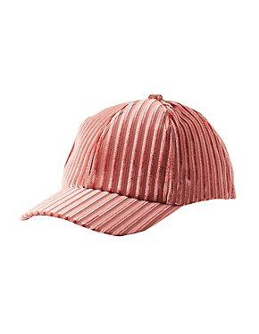 Ribbed Velvet Baseball Hat