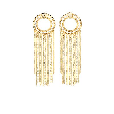 Tassel Chain Hoop Earrings