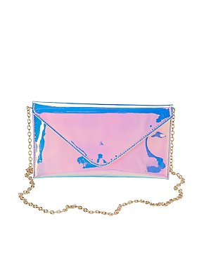 Holographic Envelope Crossbody Clutch