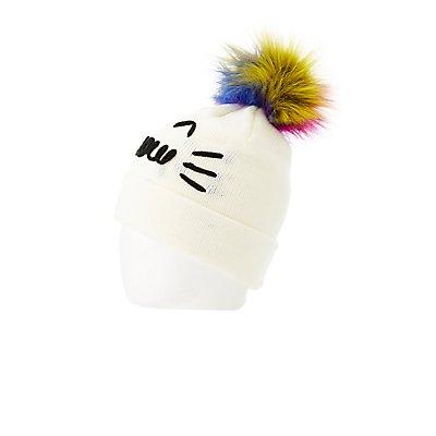 Meow Pom Pom Beanie