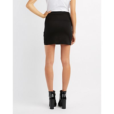 Corset-Detail Mini Skirt