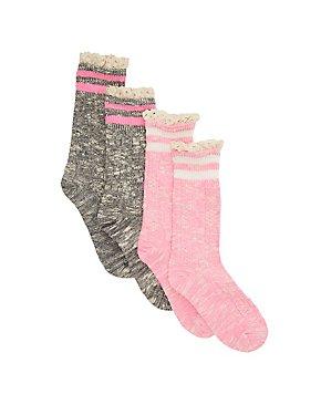 Varsity Stripped Crew Socks - 2 Pack