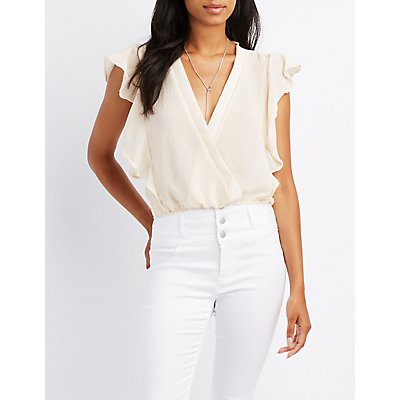 Ruffle Surplice Crop Top