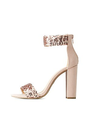 Sequins Two-Piece Sandals