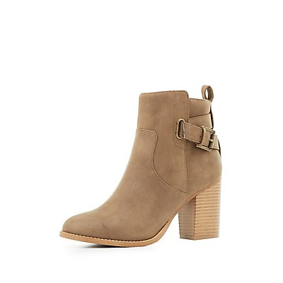 Buckled Chunky Heel Booties