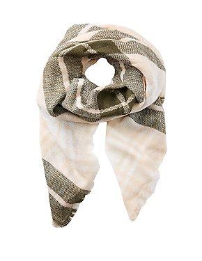 Fringe Plaid Blanket Scarf
