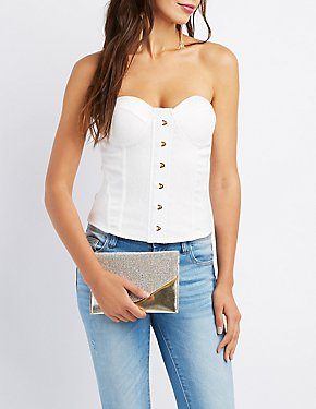 Satin & Lace Corset Top