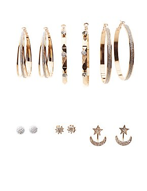 Embellished Hoop, Stud & Earrings Jackets - 7 Pack
