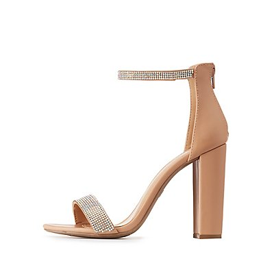 Embellished Two-Piece Dress Sandals