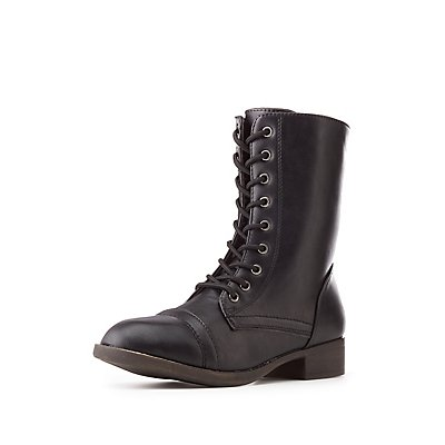 Lace-Up Combat Booties
