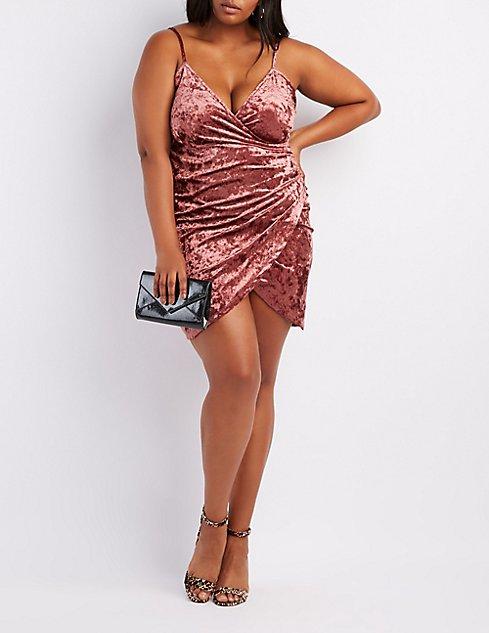 Plus Size Velvet Bodycon Dress | Charlotte Russe