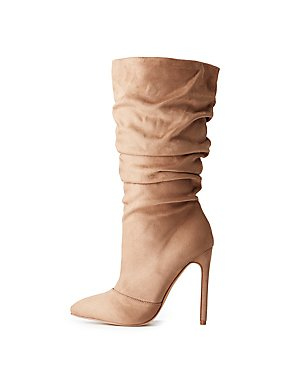 Ruched Pointed Toe Boots