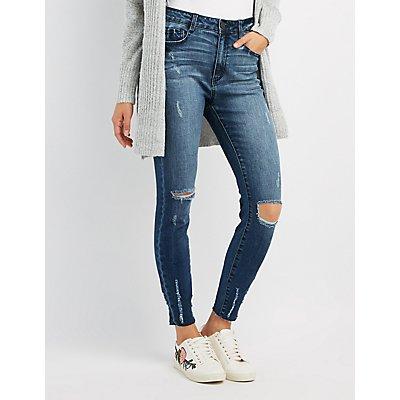 Refuge Destroyed Crop Skinny Jeans