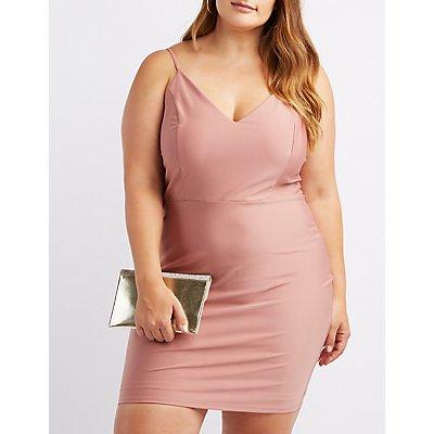 Plus Size Shimmer Knit Bodycon Dress